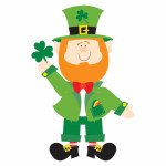 Jointed Cutout Leprechaun