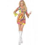 Adult 60's Flower Power Dress