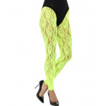 80s Lace Leggings Green