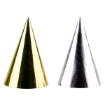Foil Party Hats Silver & Gold
